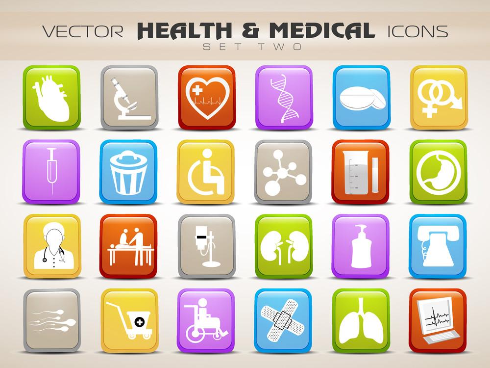Medical Icons Set Isolated On Grey Background 10
