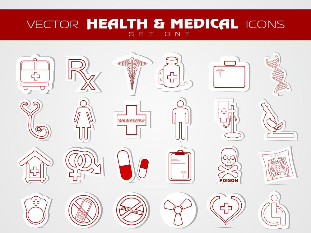 Medical Icons Set.