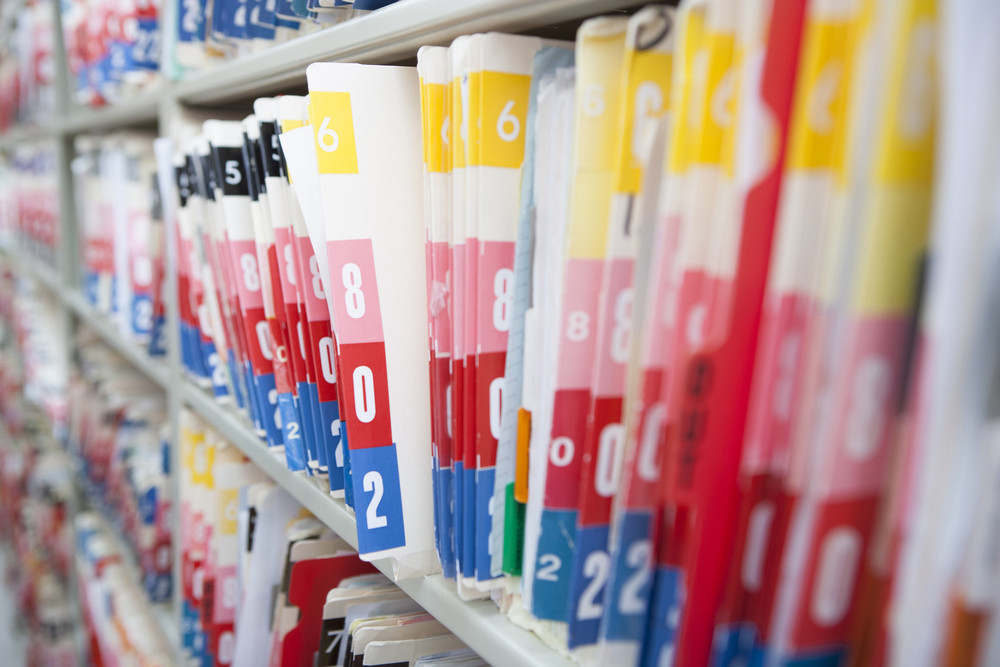 Medical records in hospital