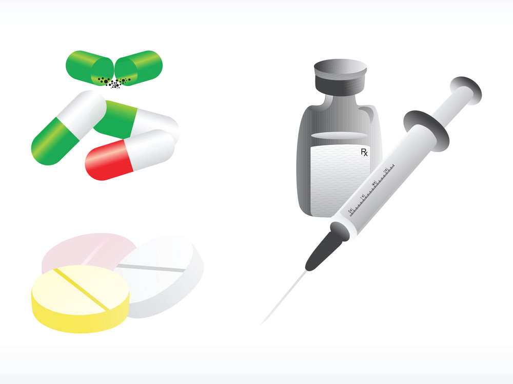 Medical Supplies On White Background