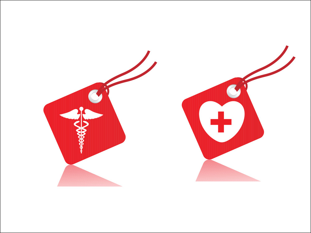 Medical Symbol Tags Vector Illustration Royalty Free Stock Image