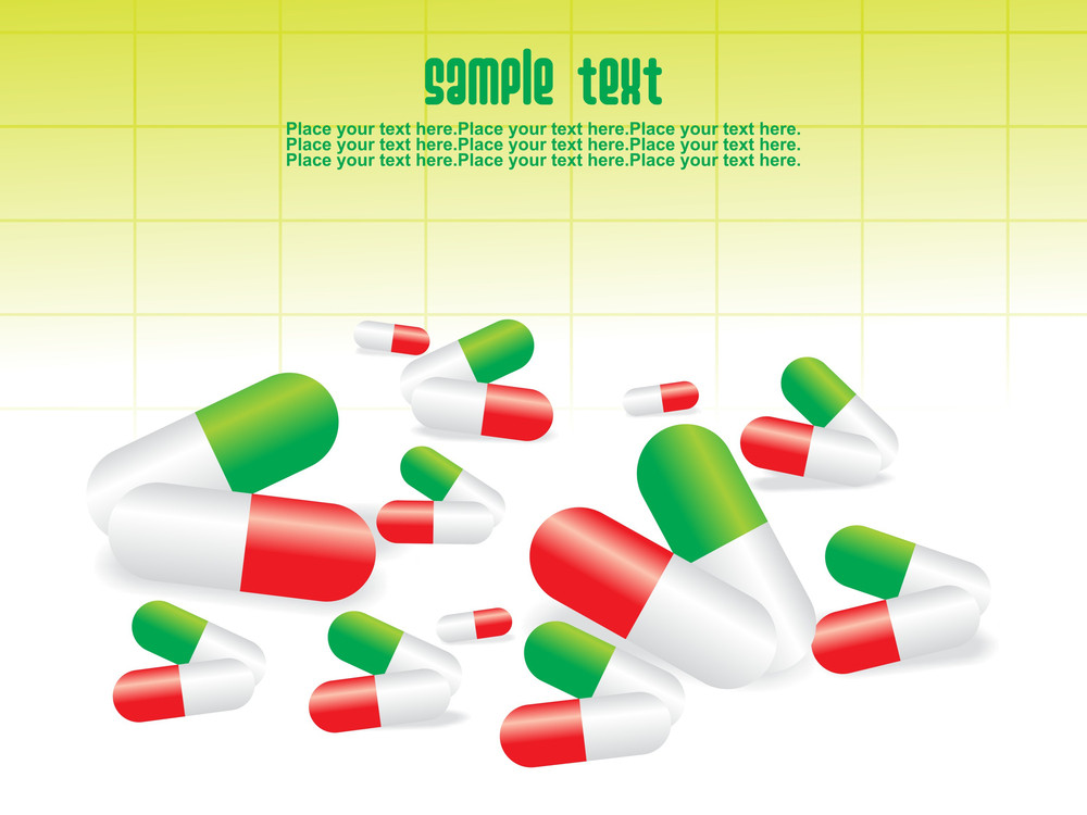 Medical Tablet And Capsule With White Background