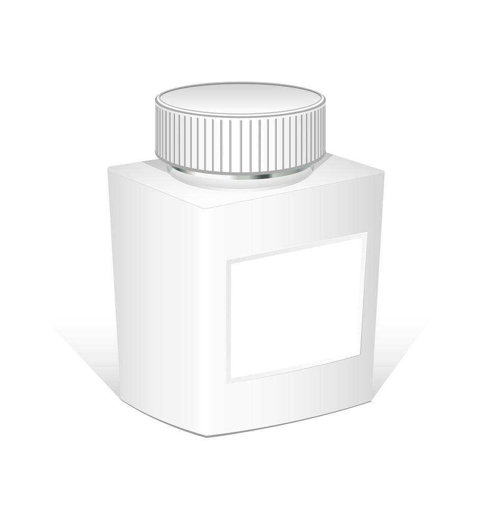Medicine Bottle Vector Illustration