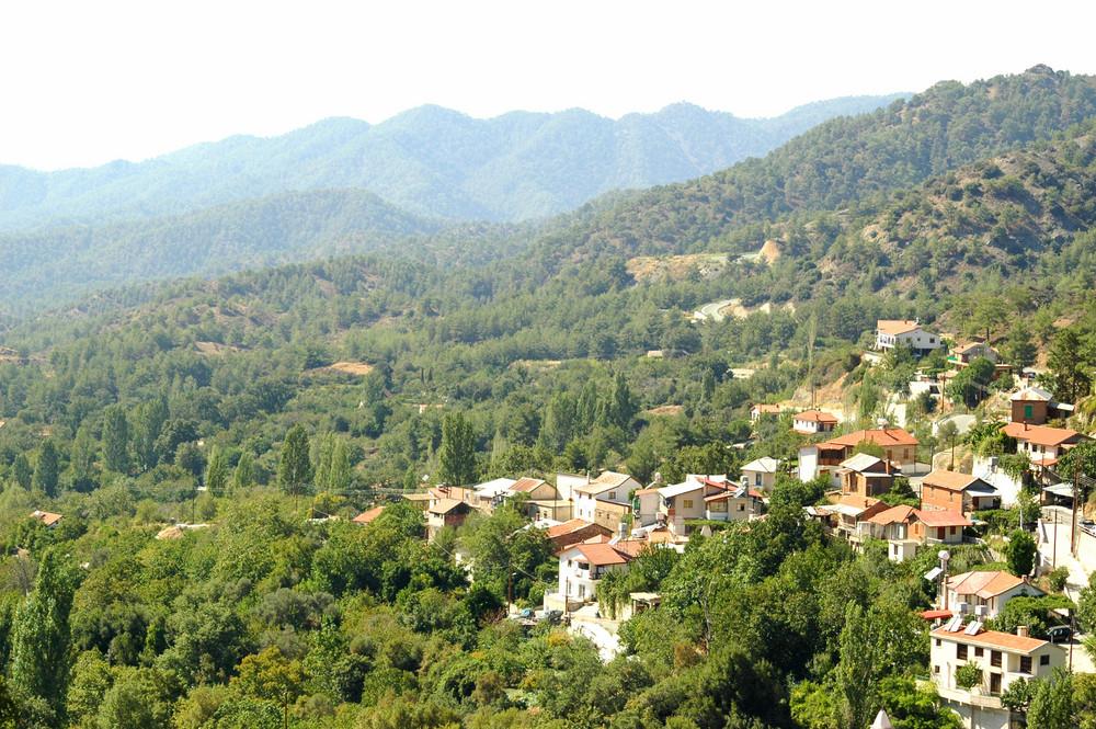 Mediterranean Village In Mountains