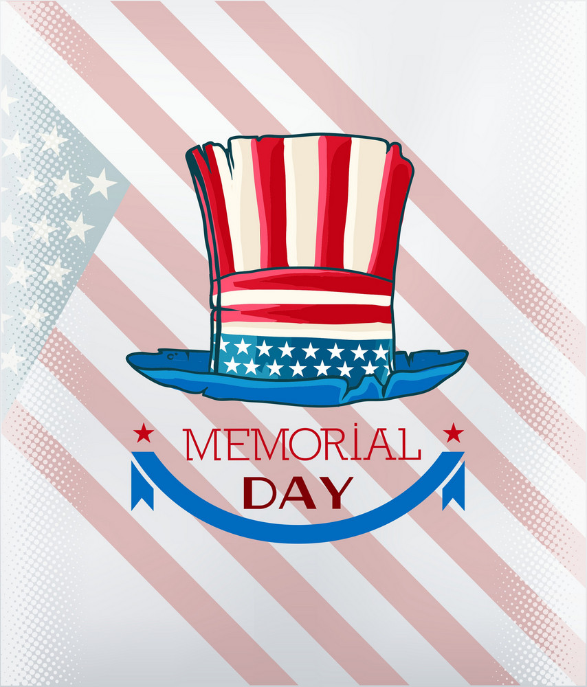 Memorial Day Vector Illustration With Hat