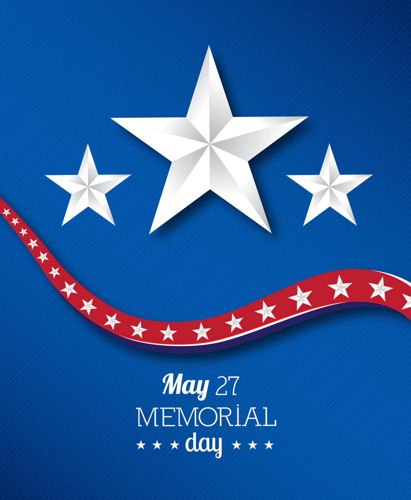 Memorial Day Vector Illustration With Star