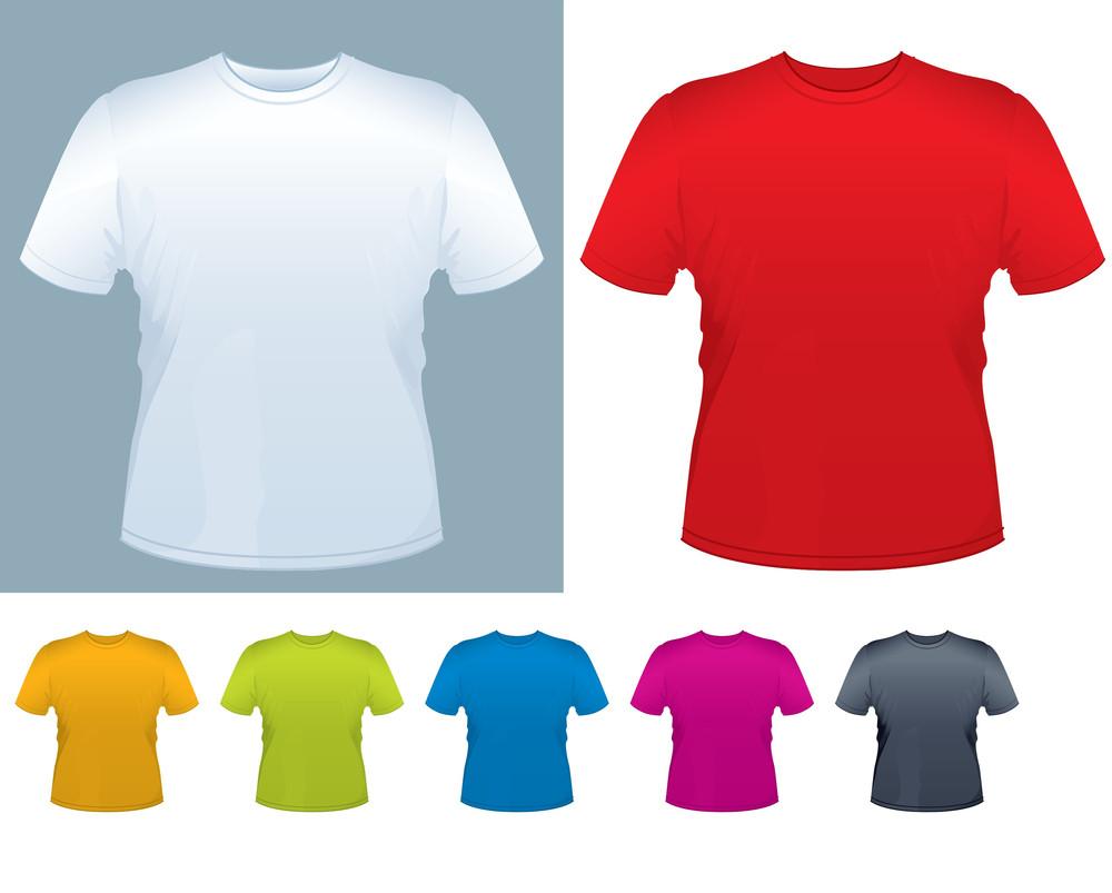 Men's T-shirt Vector Template.
