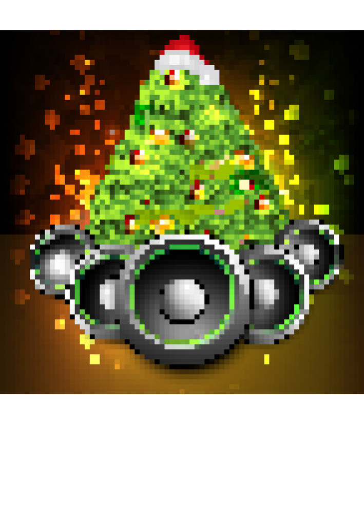 Merry Christmas And Happy New Year Celebration Party Poster
