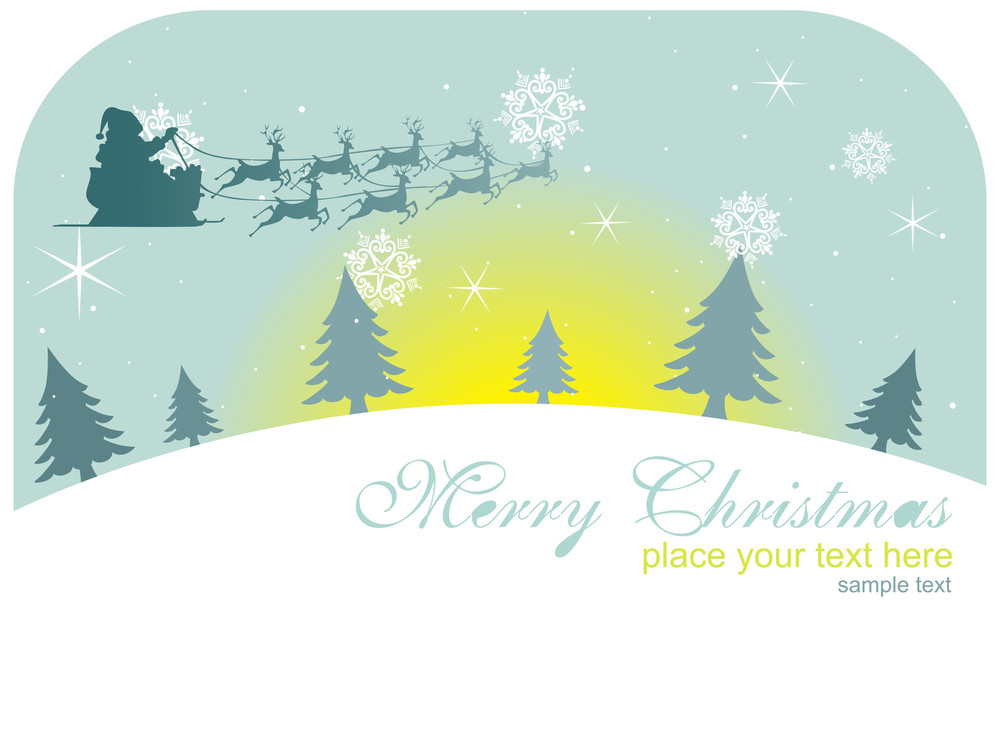 Merry Christmas Background Illustration