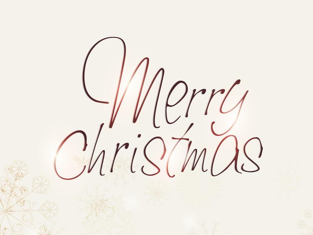 Merry Christmas Celebration Greeting Card Or Background