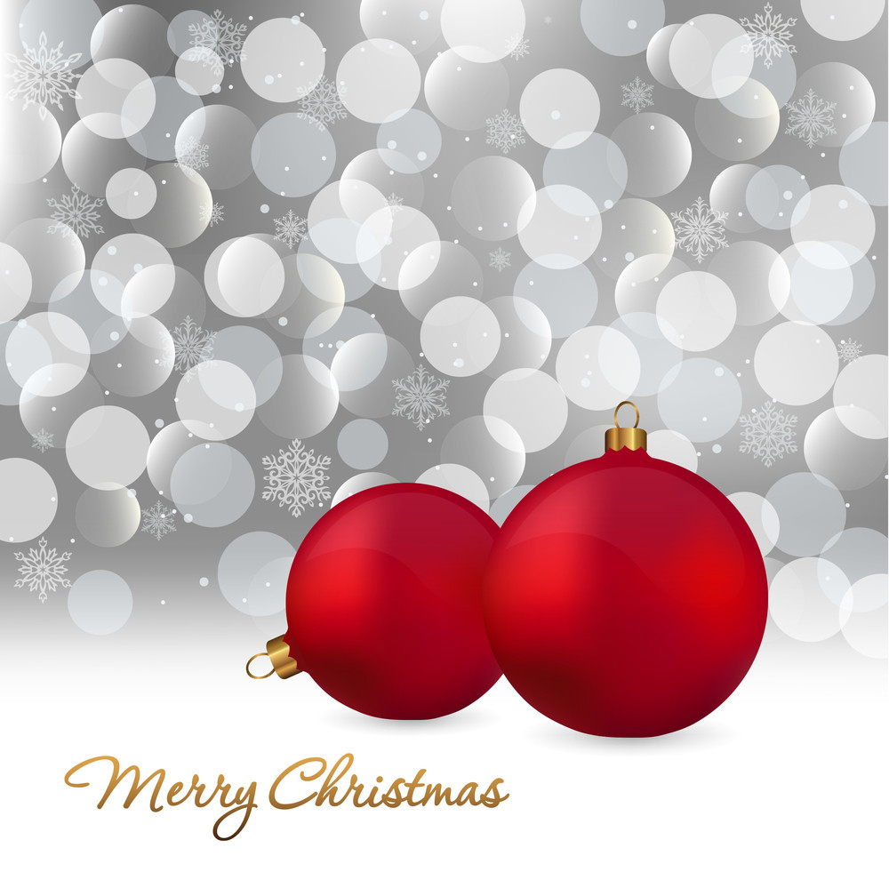 Merry Christmas Elegant Background For Greetings Card