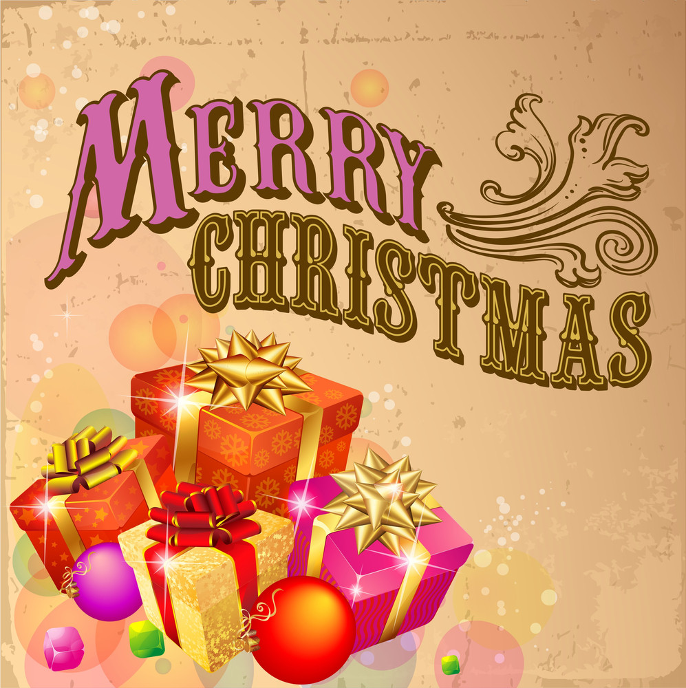 Merry Christmas Presents Vector