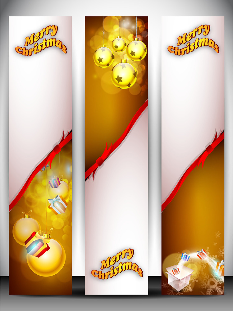 Merry Christmas Website Banner Set