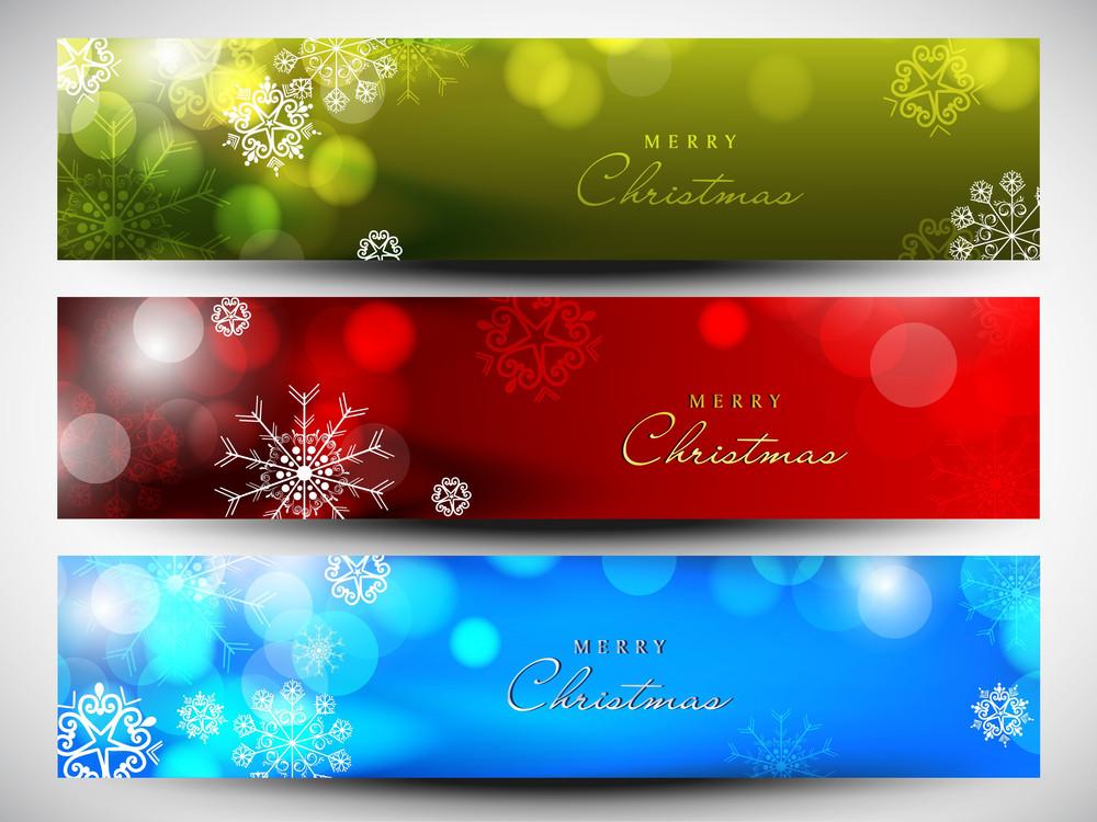 Merry Christmas Website Header Or Banner Set Royalty-Free Stock ...