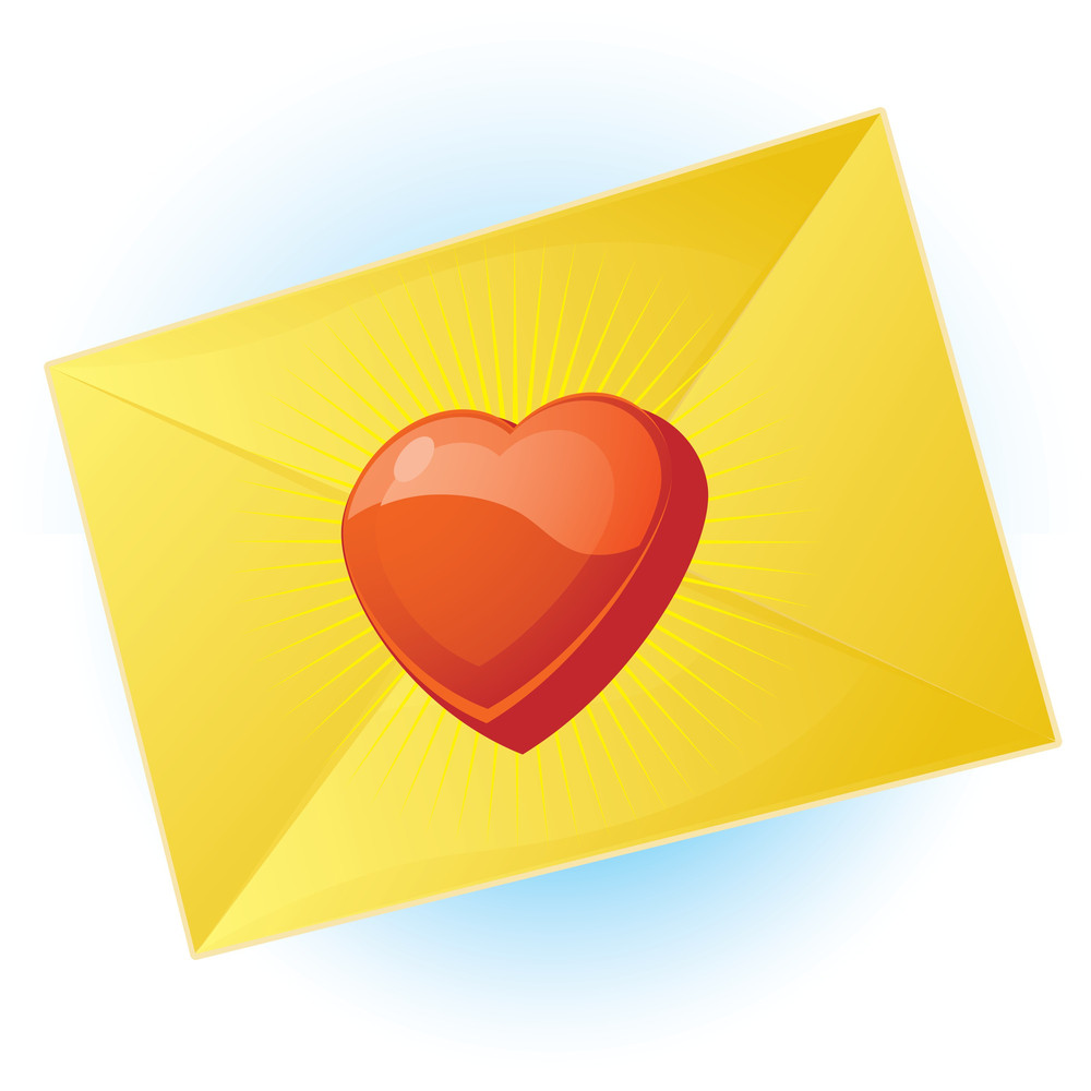 Message Of Love. Vector.
