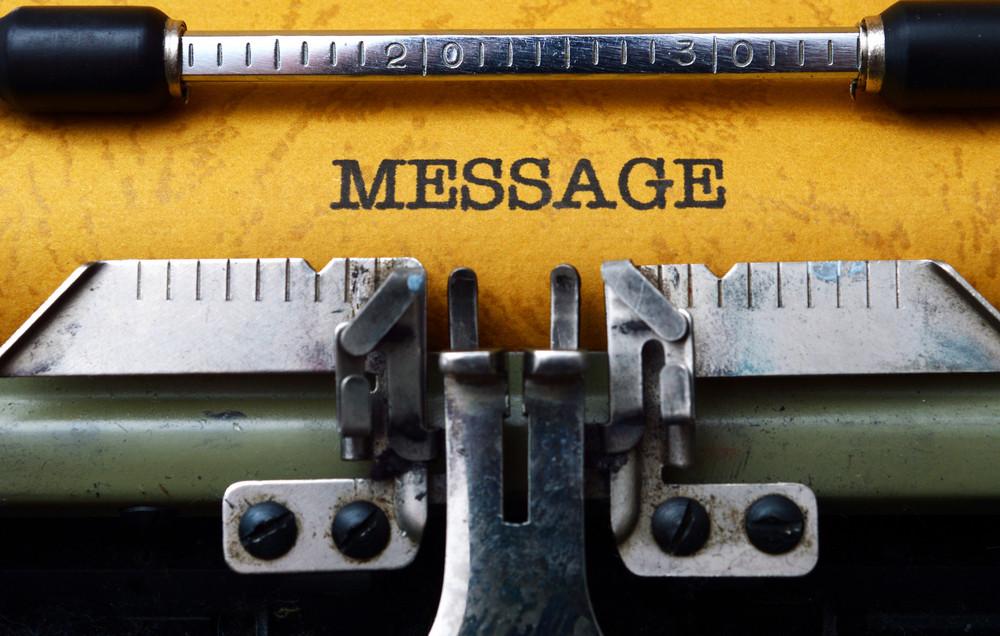 Message Text On Typewriter