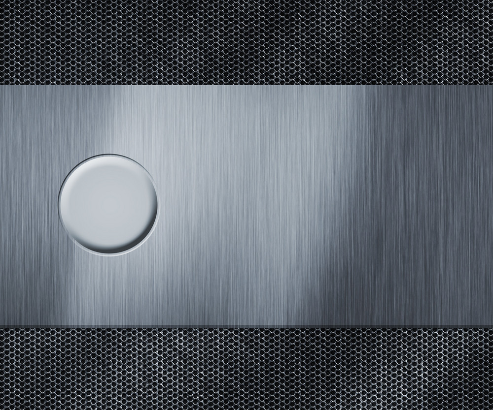 Metal Blank Button Background