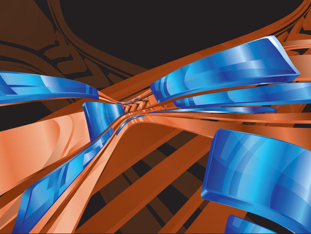 Metal Blue Tech Background. Vector.