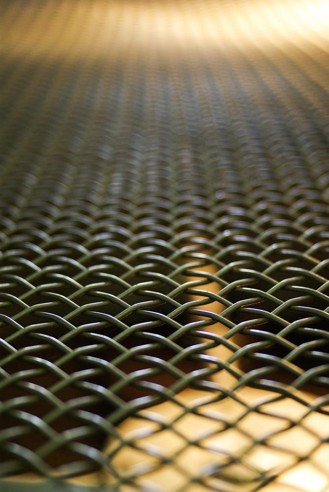 Metal grid coffee roasted machine
