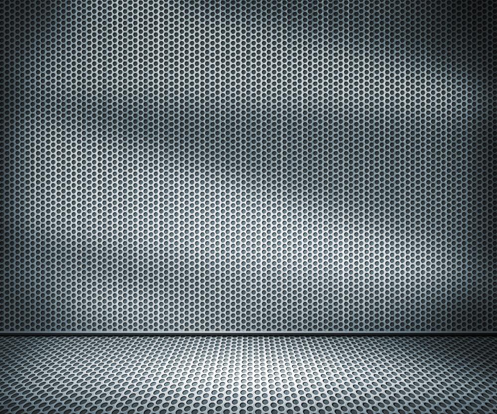 Metal Holes Interior Background