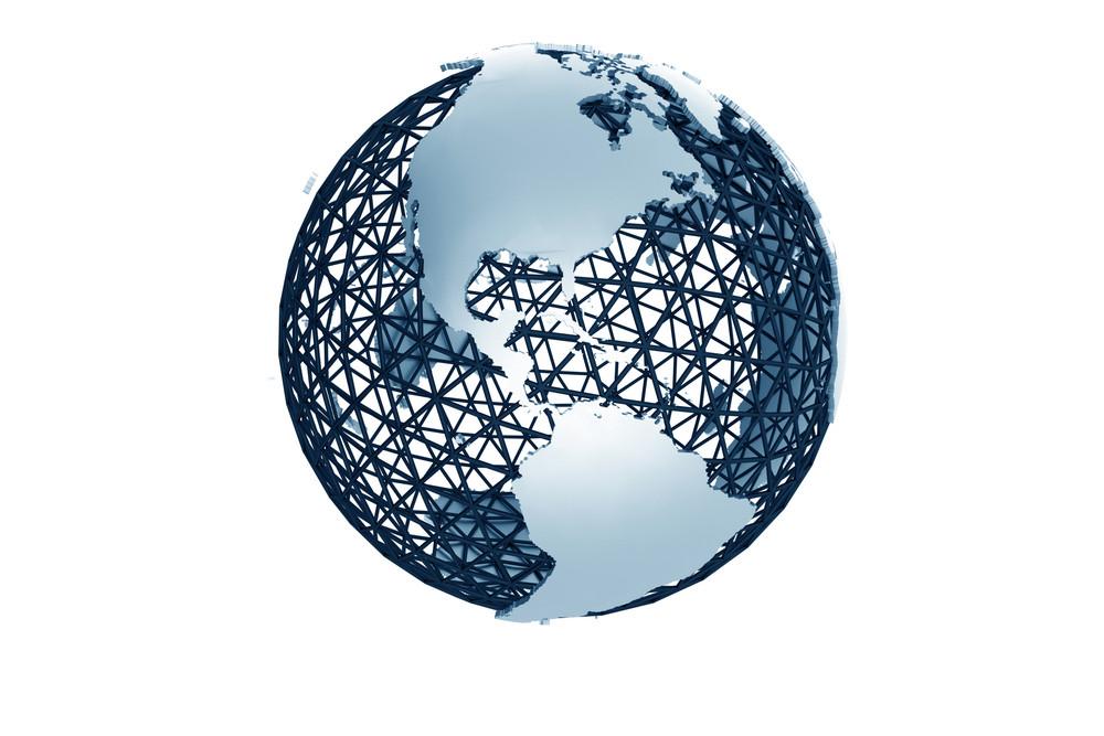 Metal Mesh Globe 3d