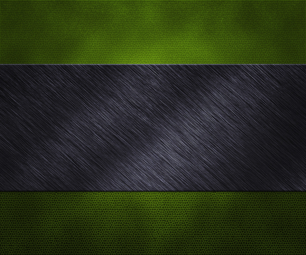 Metal On Green Leather