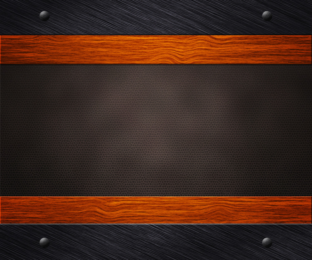 Metal Wood Leather Background