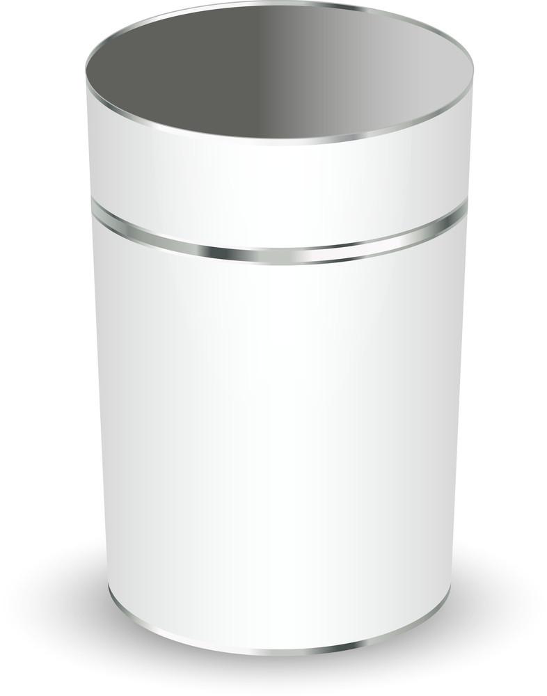 Metallic Bucket Vector