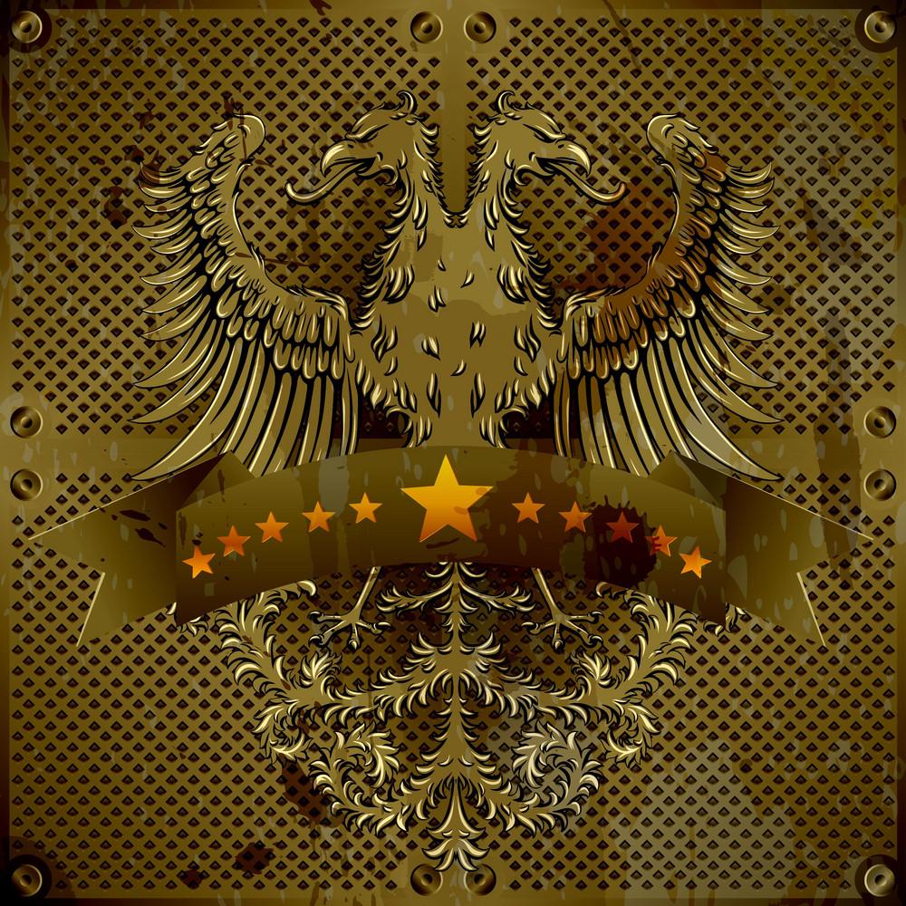 Metallic Emblem Vector Illustration