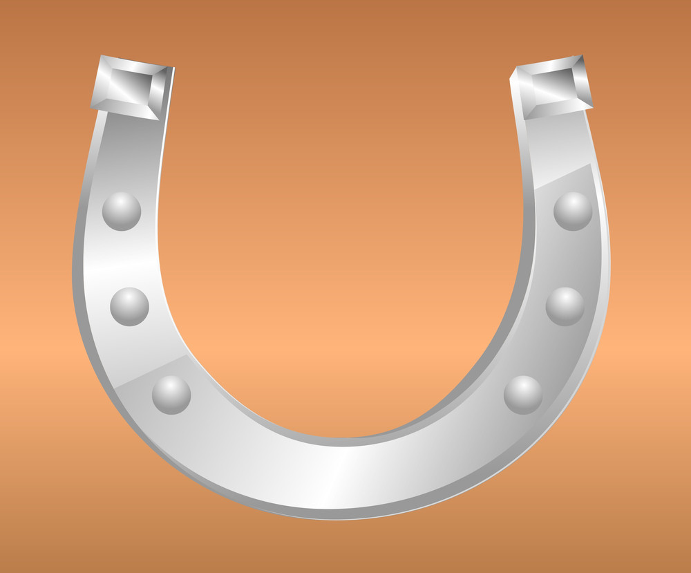 Metallic Fortune Horseshoe