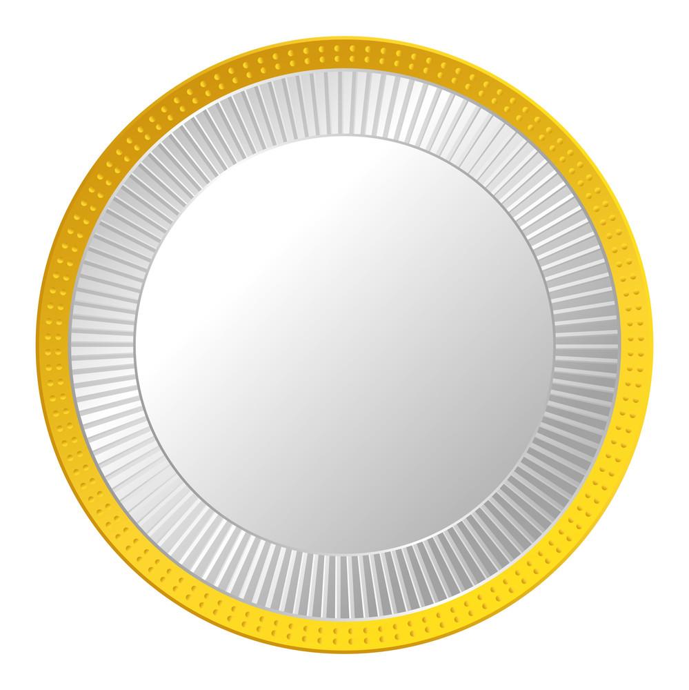 Metallic Gold Coin