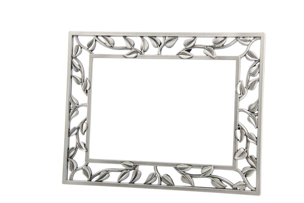 Metallic Photo-frame On White