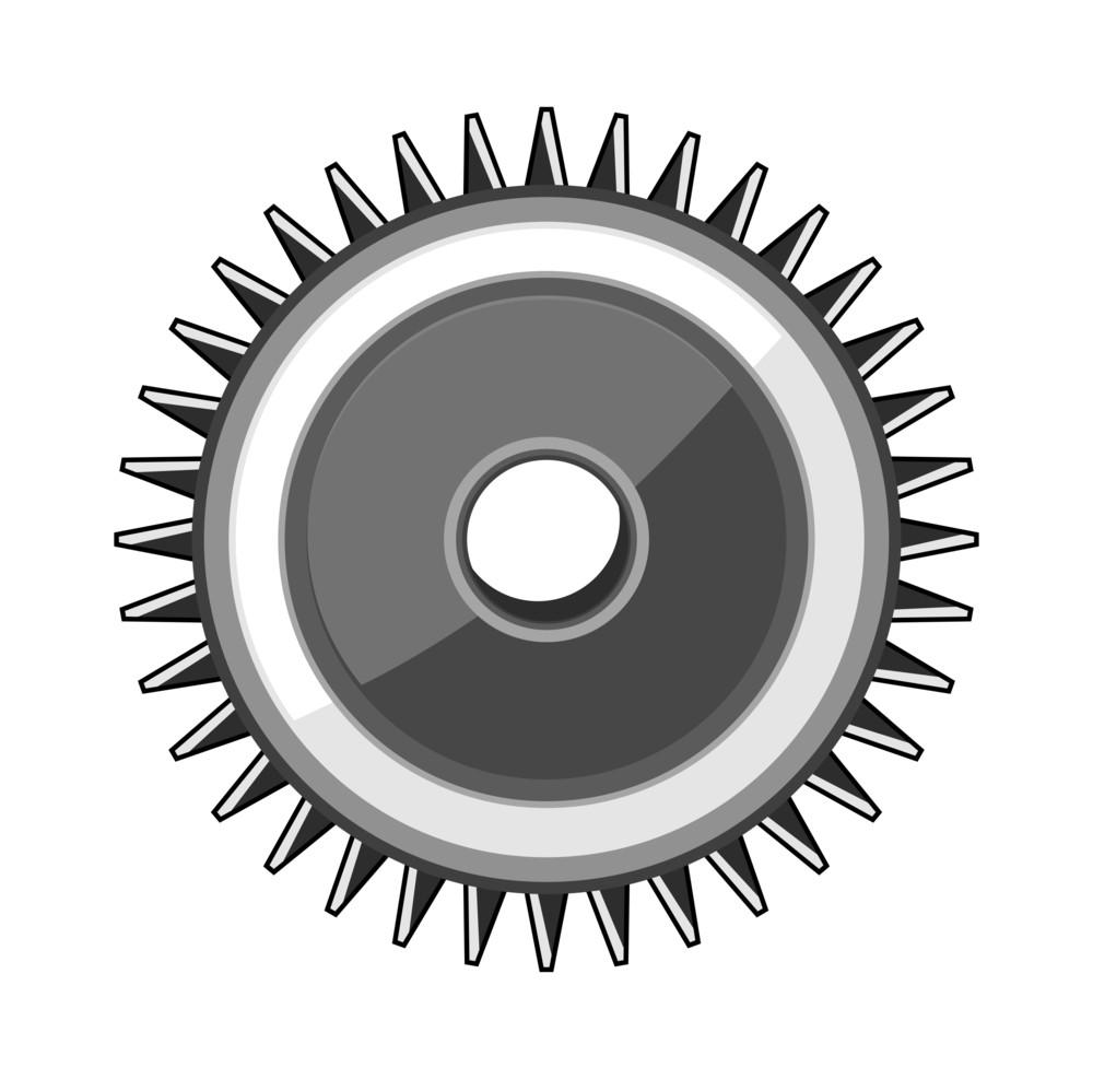 Metallic Retro Gear Wheel