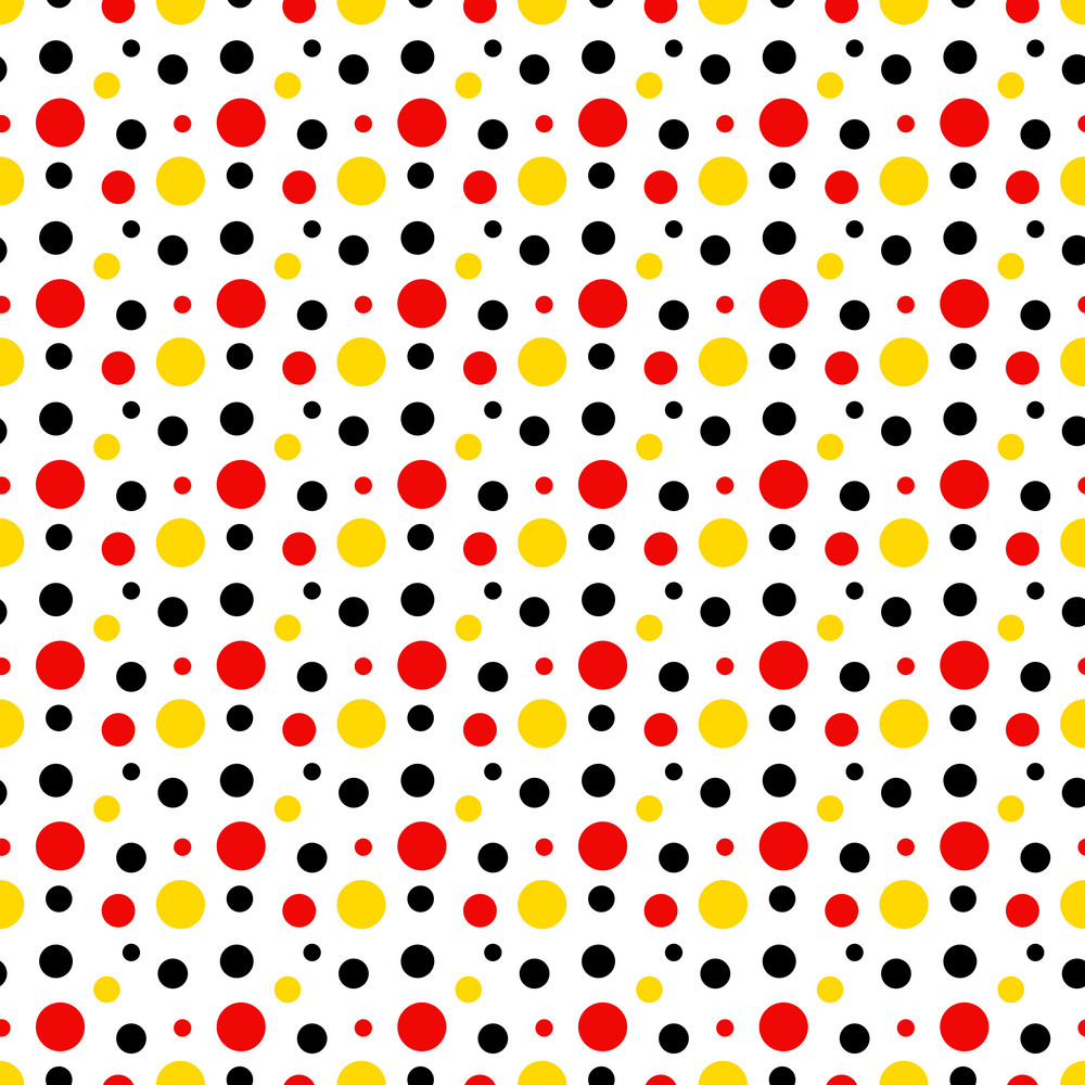 Mickey Mouse Pattern Of Red, Black And Yellow Polka Dots ...