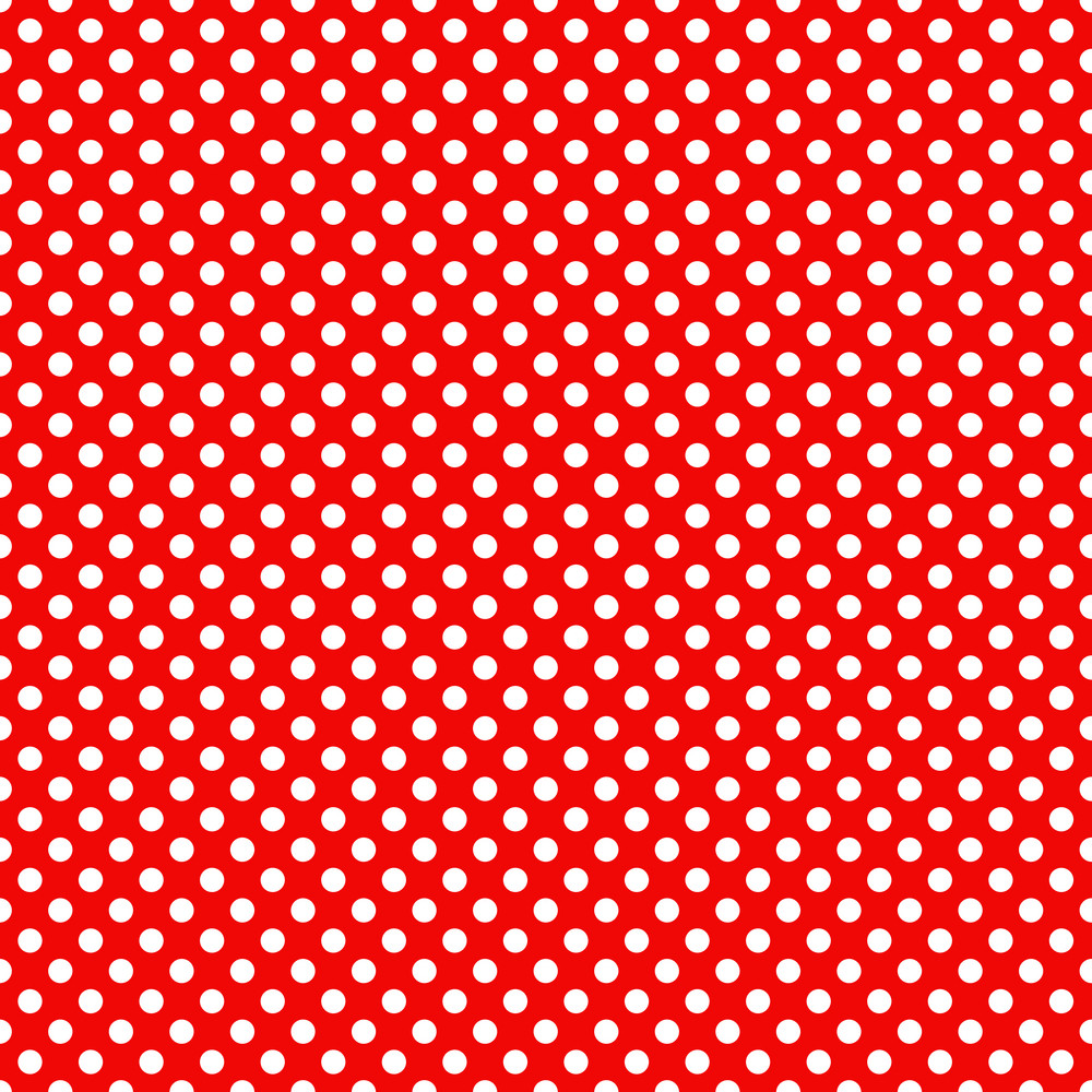 mickey mouse pattern of white polka dots on a red