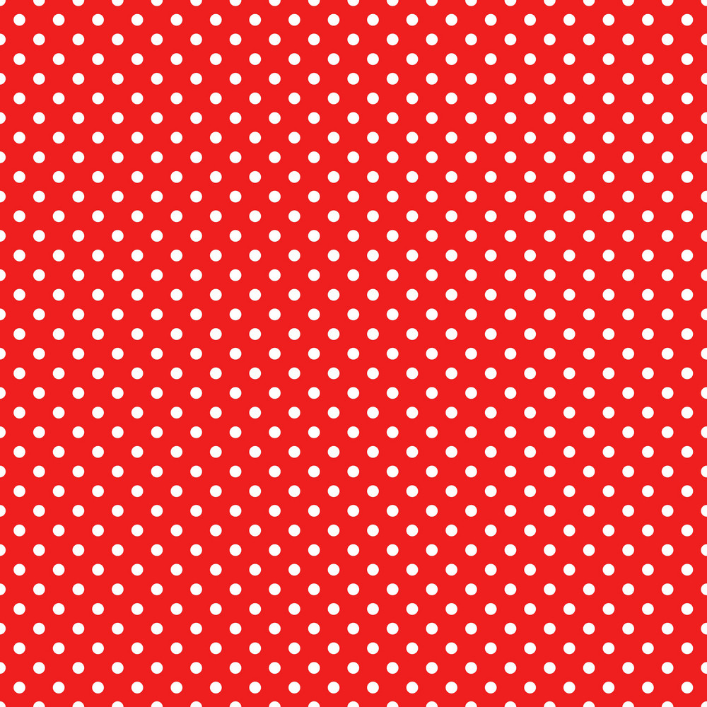 Pattern Of White Polka Dots On Red Mickey Paper
