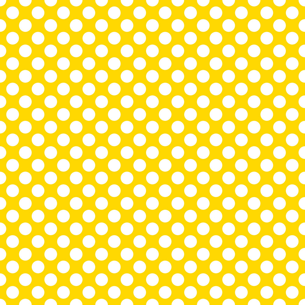 Pattern Of White Polka Dots On Yellow Mickey Paper