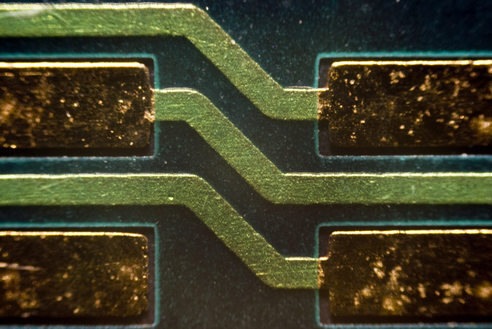 Micro Photo Of A Board