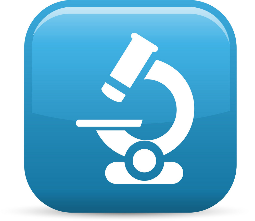 Microscope Elements Glossy Icon