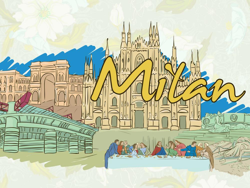 Milan Doodles Vector Illustration