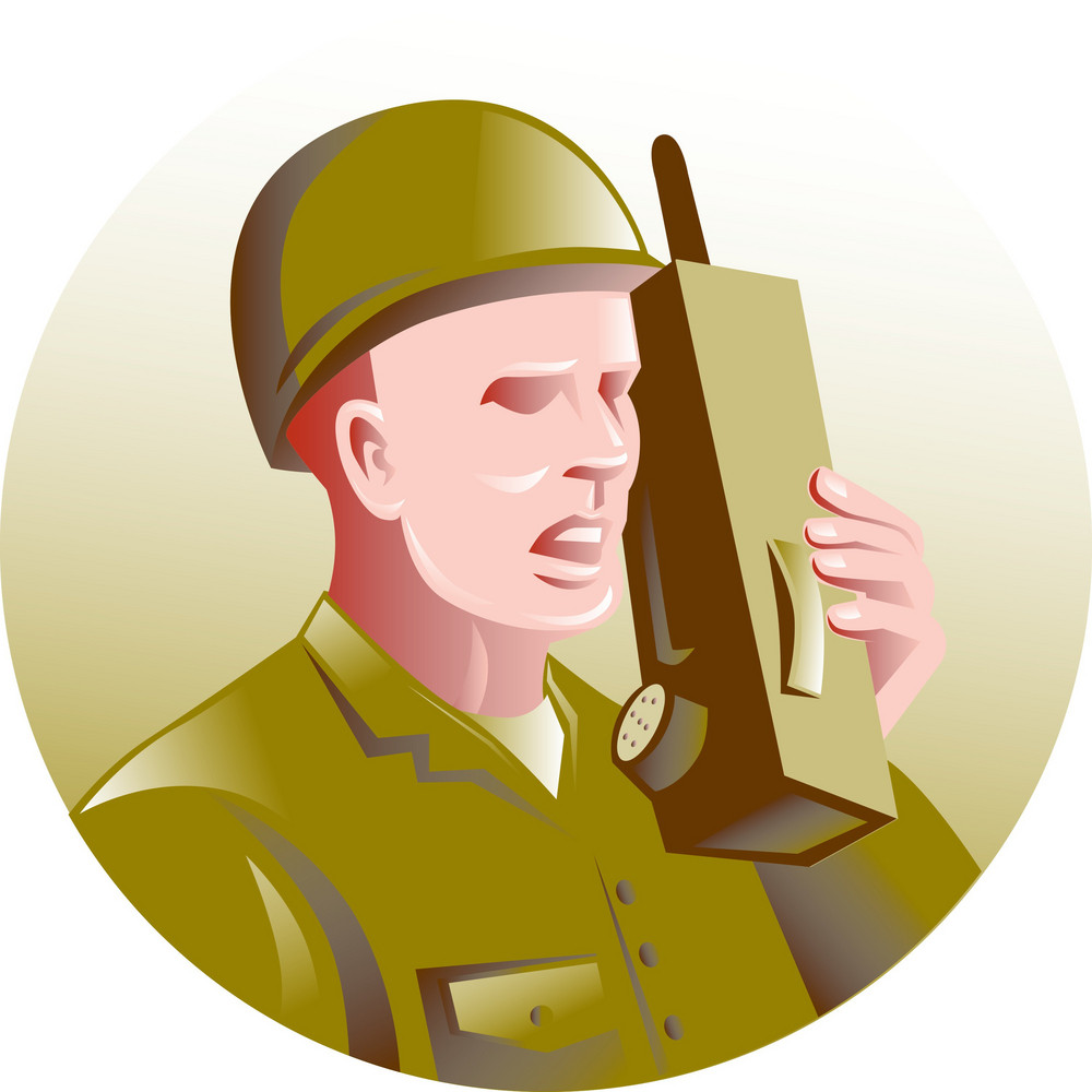 Military Soldier Talking Radio Walkie-talkie