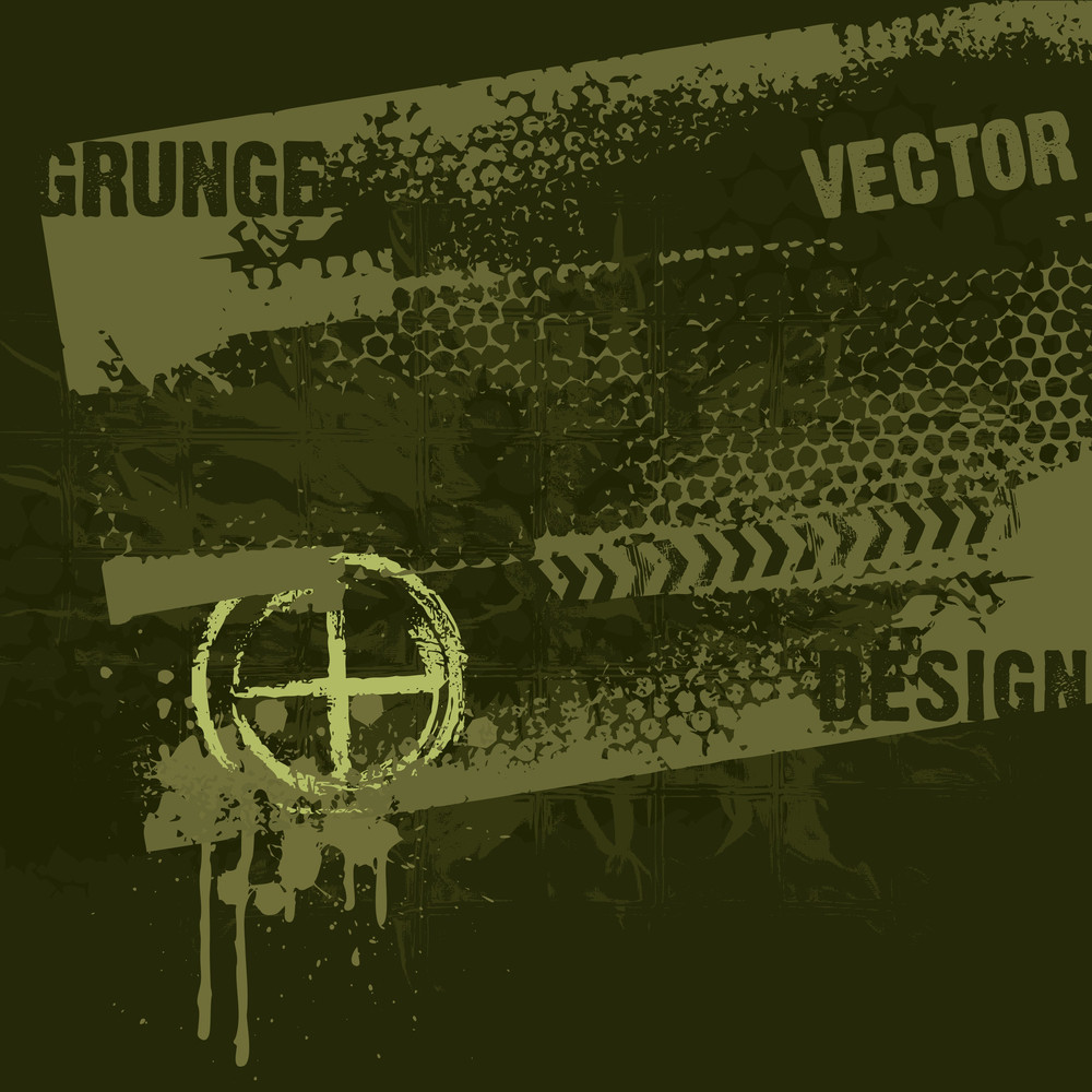 Military Style Grunge Design
