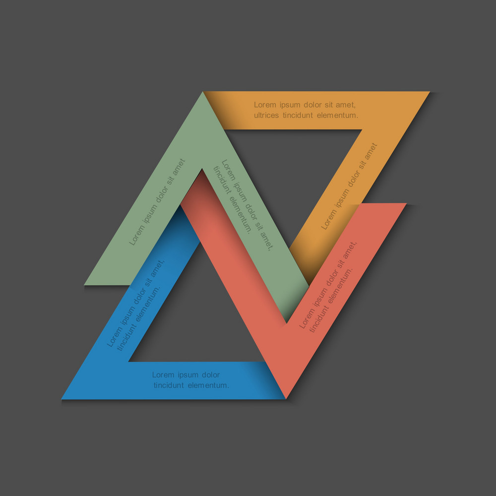 Minimalistic Background With Paper Triangles