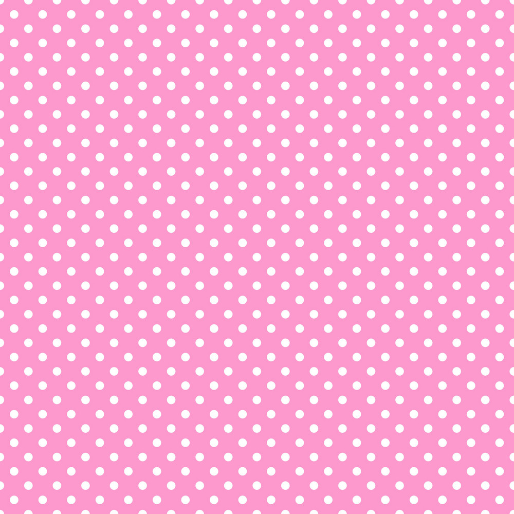 Pattern Of White Polka Dots On Pink Minnie Mouse Paper