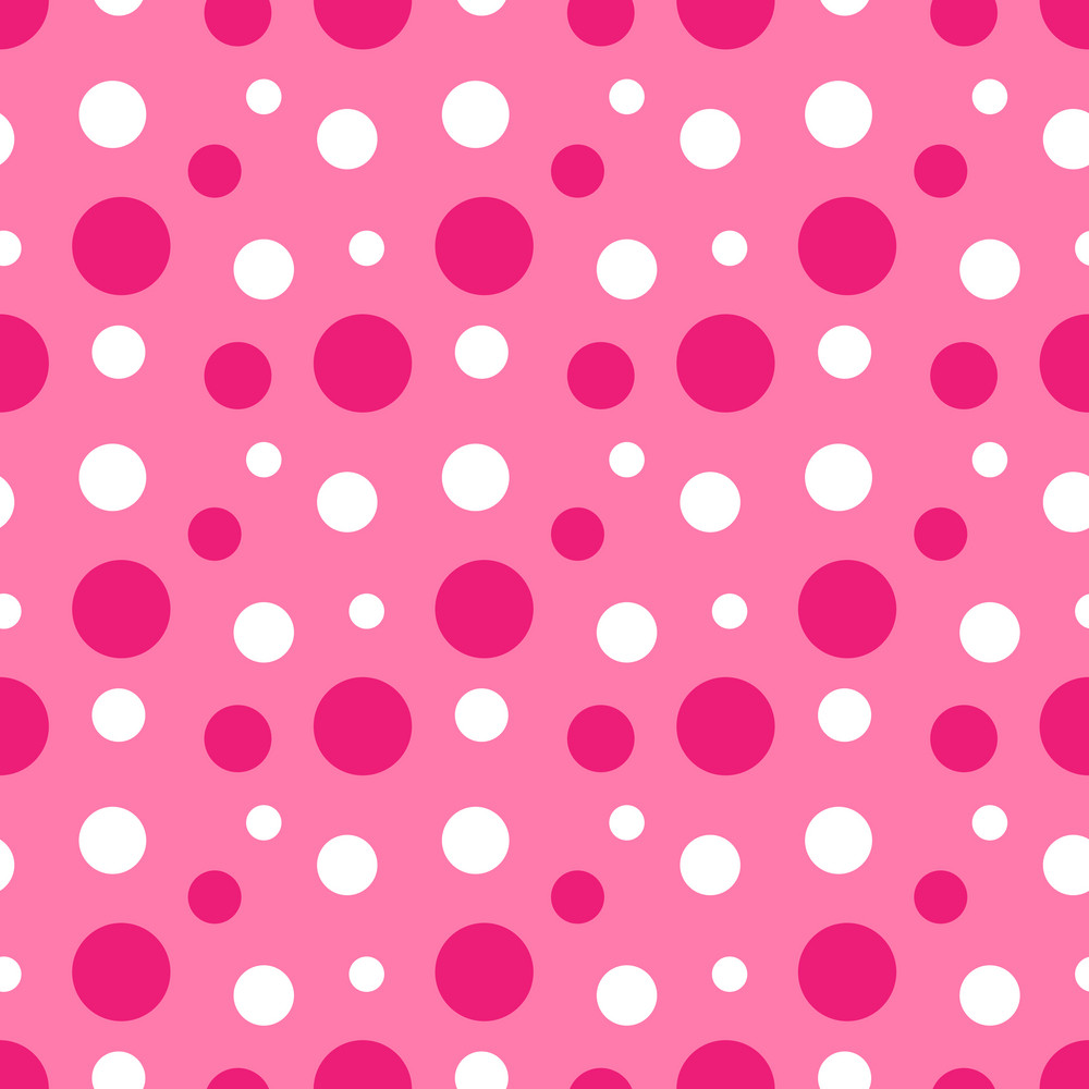 Pink Polka Dot Wallpaper: Pattern Of Pink And White Polka Dots On Minnie Mouse Paper