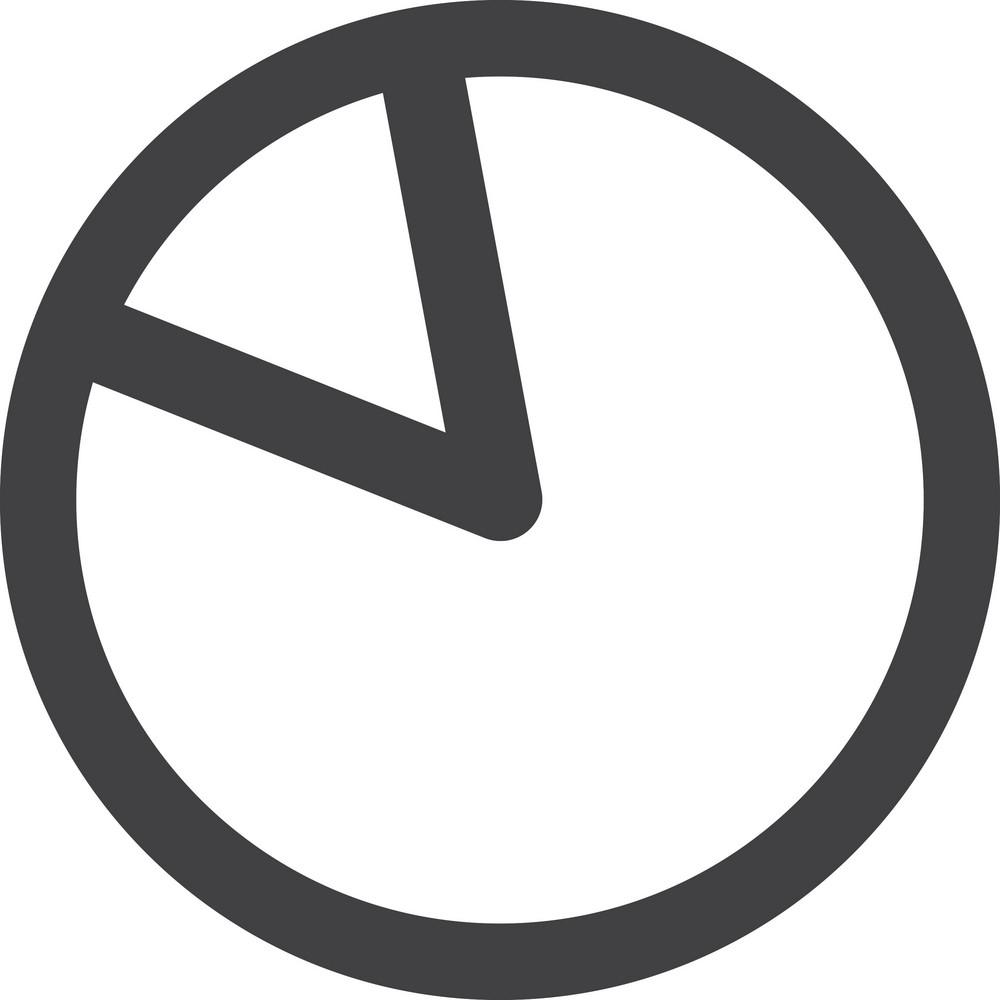 Missing Pie Slice Stroke Icon