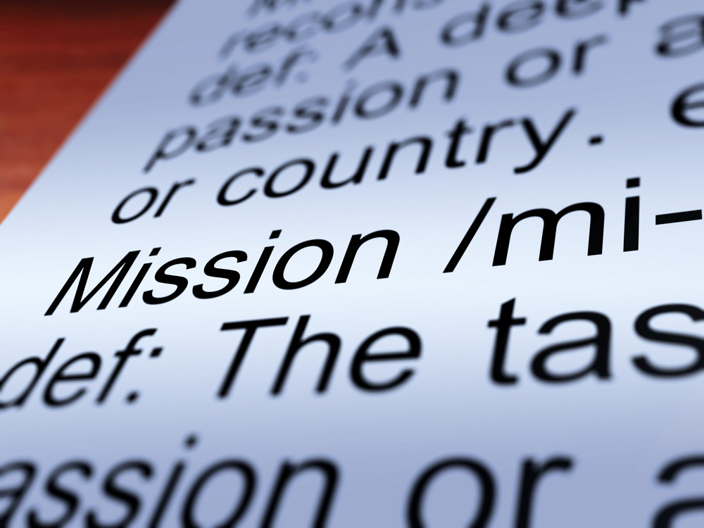 Mission Definition Closeup Showing Task Or Goal