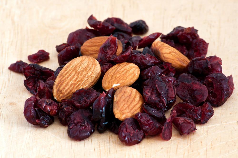 Mix Of Raisins And Almond Nut