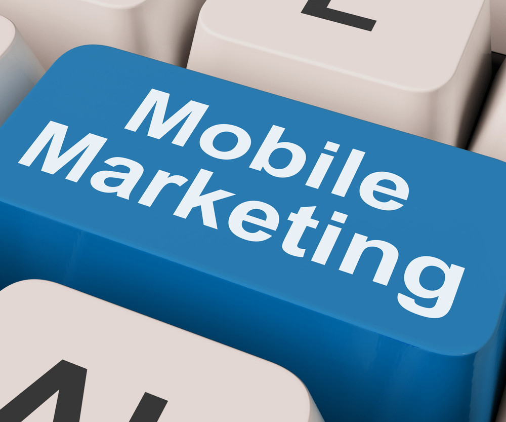 Mobile Marketing Key Shows Online Sales And Promotion
