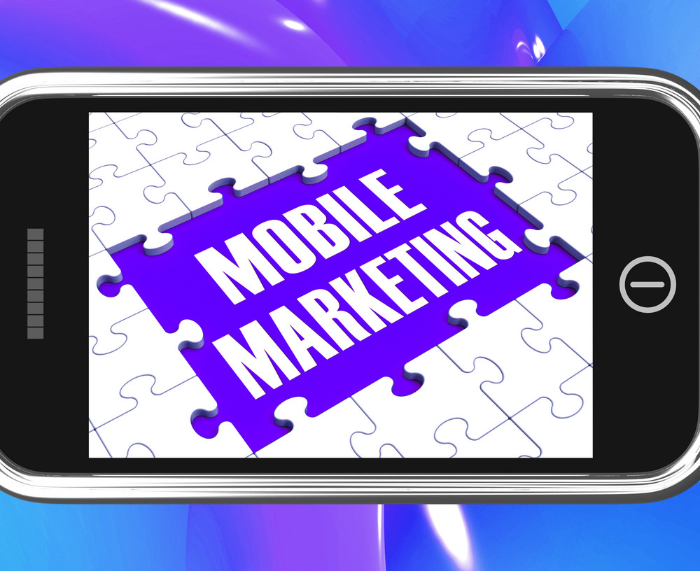 Mobile Marketing On Smartphone Showing Ecommerce